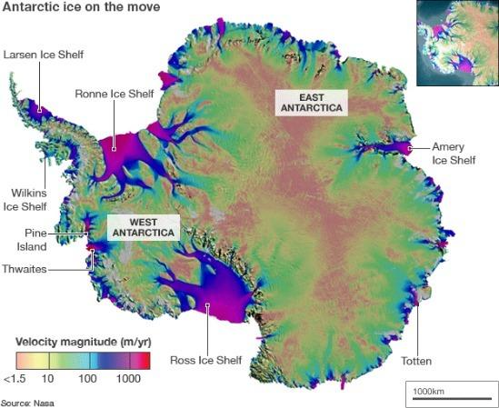 Antarctic ice flow