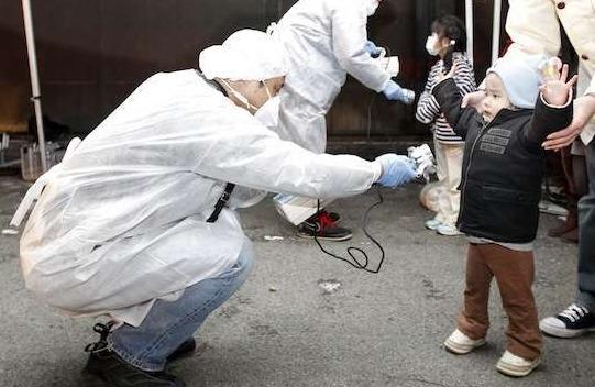 Fukushima Resident Checked for Radiation