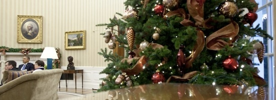 Christmas tree in White House