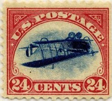 airplane stamp