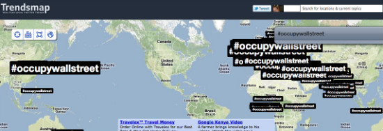Is Twitter blocking Occupy Wall Street from trending in the USA