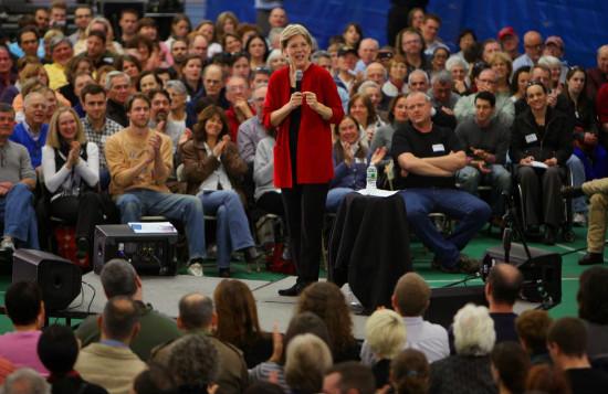 Elizabeth Warren at campaign rally