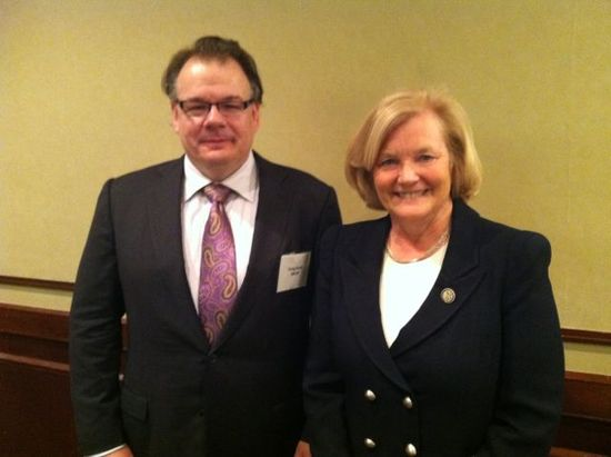 Rep. Pingree with SWAN political director Greg Jacob