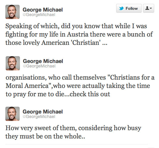 George Michael Tweets