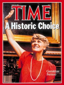 Image result for walter mondale taps geraldine ferraro as vice president
