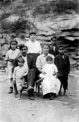 Arch Goins and family, Melungeons from Graysville. Archival family photograph from the 1920s