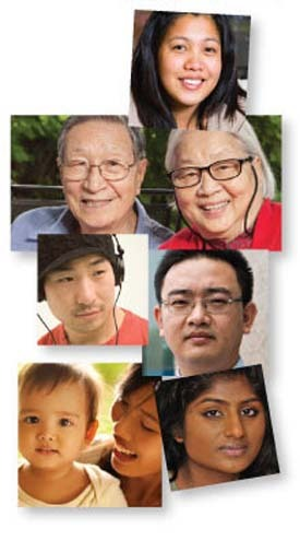 photos montage of Asian Americans and Asian-Pacific Islanders