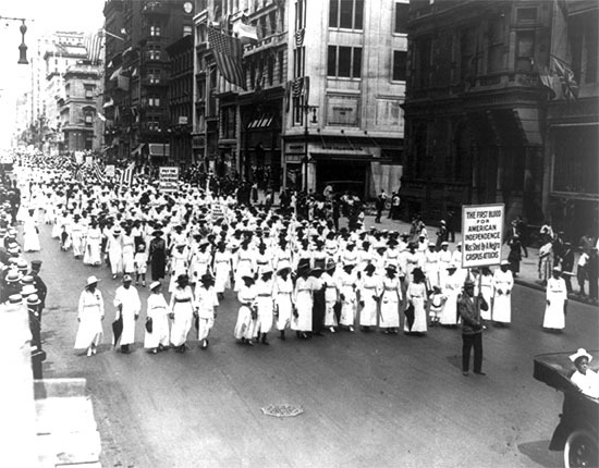 Silent protest parade in New York City, 1917