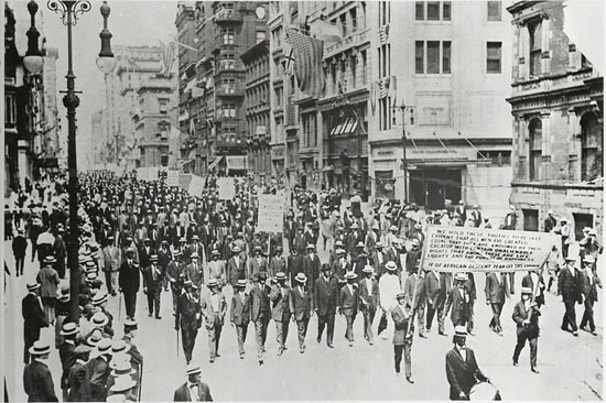 Photograph of the Silent Parade in New York City
