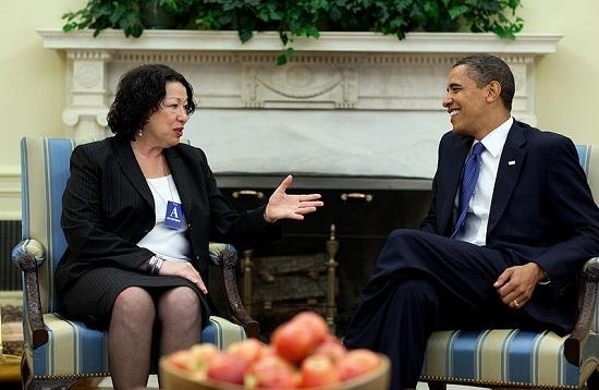 Obama and Sotomayor