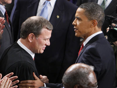 Obama and Roberts