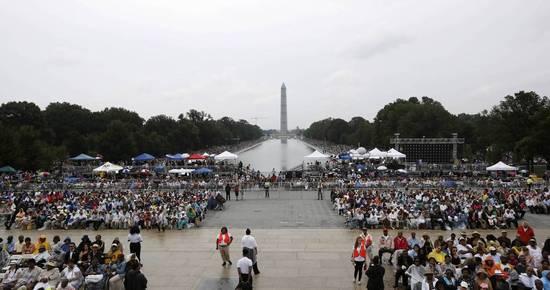 March on Washington 50th crowd photo