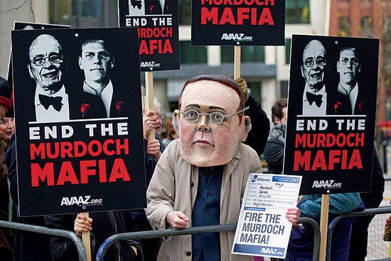 photo of End Murdoch Mafia Protest, credit: Avaaz