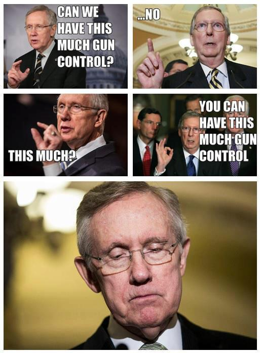 McConnell's facebook gloat re gun vote defeat