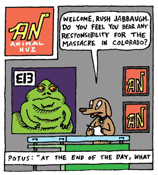 Animal Nuz comic strip #106 by Eric Lewis panel 1
