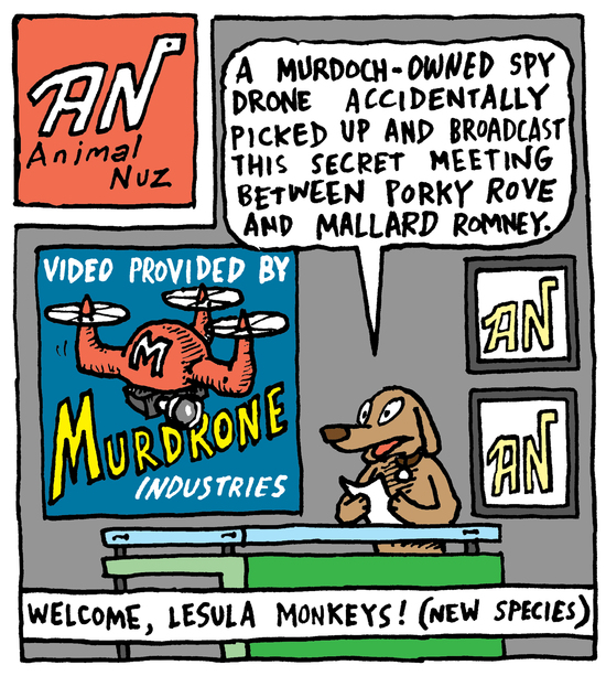 Animal Nuz comic #114 by Eric Lewis panel 1