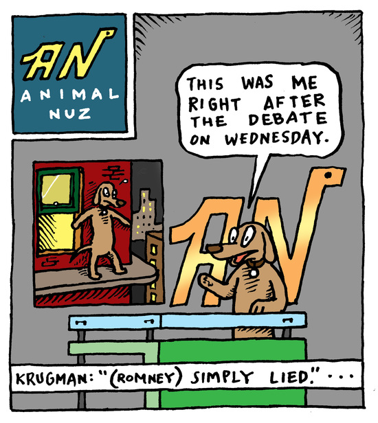 Animal Nuz comic #117 by Eric Lewis, panel 1