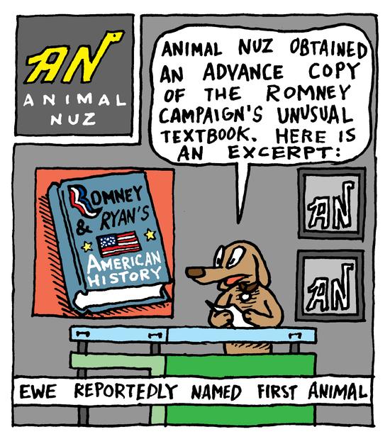 Animal Nuz Comic Strip #118 by Eric Lewis panel 1