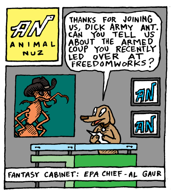 Animal Nuz comic by Eric Lewis #129 panel 1