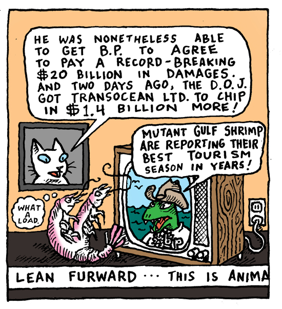 Animal Nuz comic #130 by Eric Lewis panel 2