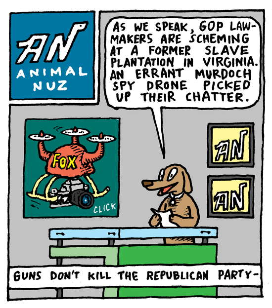 Animal Nuz comic #132 by Eric lewis panel 1