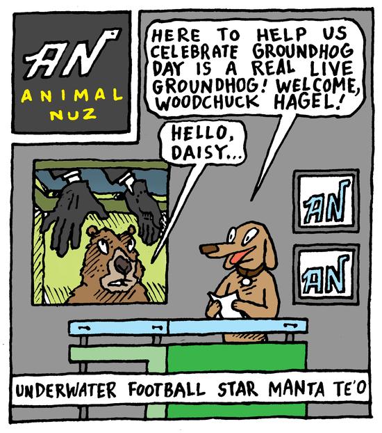 Animal Nuz comic strip #134 by Eric Lewis panel 1