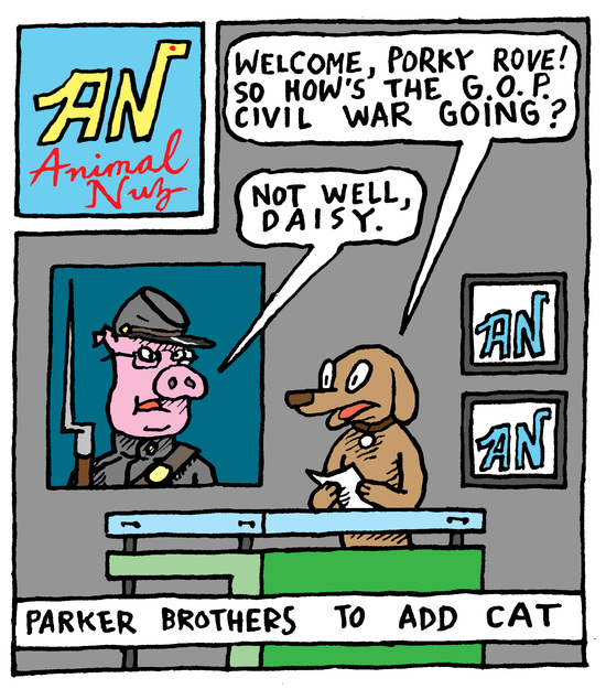 Animal Nuz comic #135 by Eric Lewis panel 1