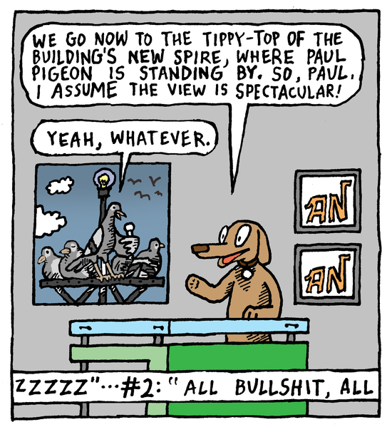 Animal Nuz comic #148 by Eric Lewis, panel 2