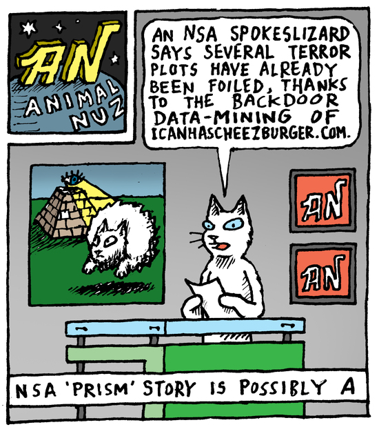 Animal Nuz comic #152 by Eric Lewis panel 1