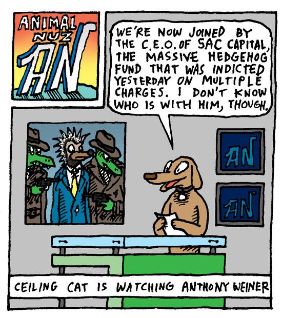 Animal Nuz comic #159 by Eric Lewis panel 1