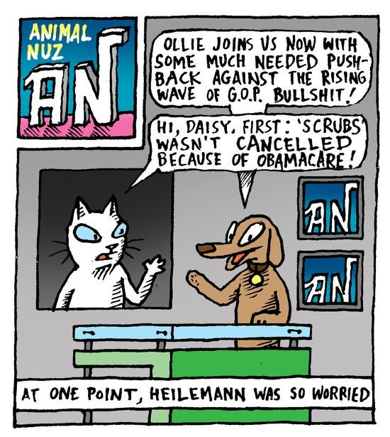 Animal Nuz comic #172 by Eric Lewis panel 1