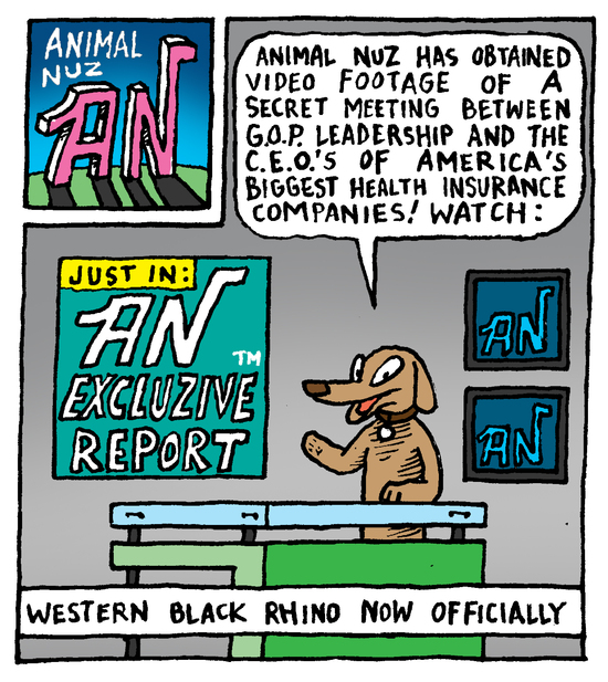 Animal Nuz comic #173 by Eric Lewis panel 1