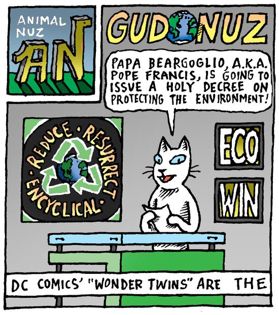 Animal Nuz comic #184 by Eric Lewis panel 1