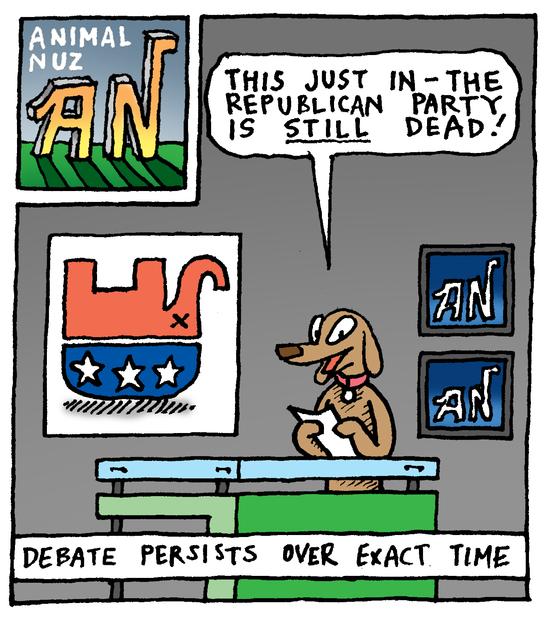 Animal Nuz comic #187 by Eric Lewis panel 1