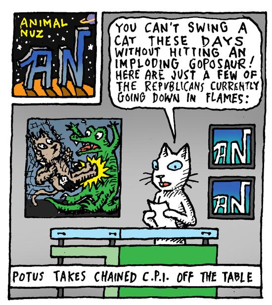 Animal Nuz comic #188 by Eric lewis panel 1