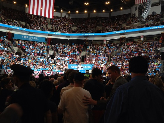 President Obama addresses the crowd
