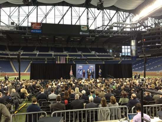 Mitt Romney at Ford Field