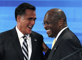 Cain and Romney