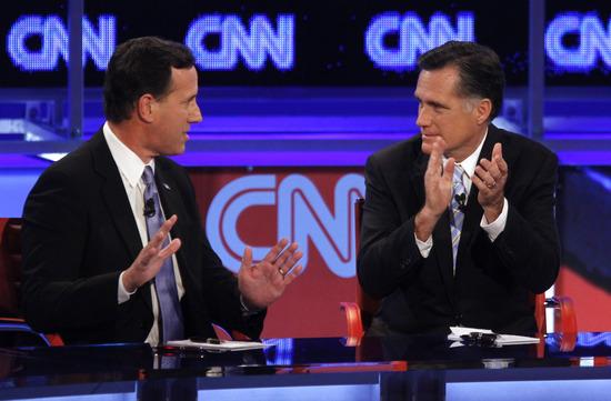 Rick Santorum, Mitt Romney