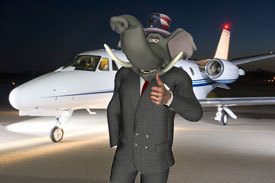 Republicans for private jets