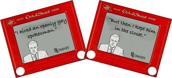 Mitt Romney Etch-A-Sketch