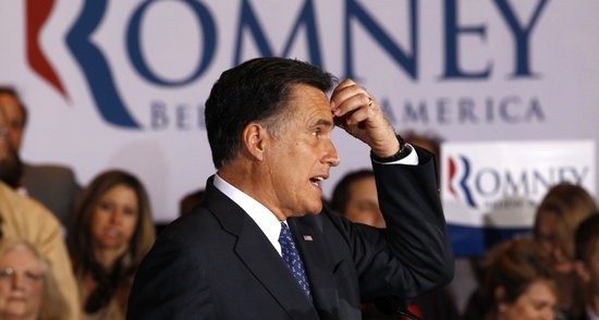 Mitt Romney scratches forehead