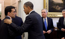 President Obama with Eric Cantor