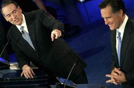 Huckabee and Romney