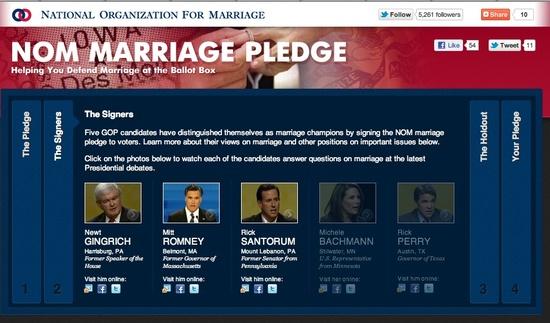 Romney signed the NOM pledge