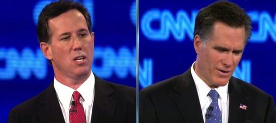 Santorum and Romney