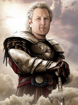Andrew Breitbart's ghost as a Nordic knight