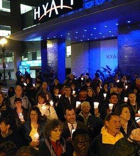 Hyatt vigil
