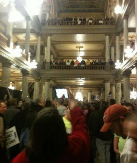 IN statehouse RTW protesters