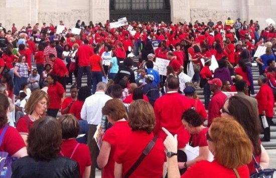 Louisiana education protest